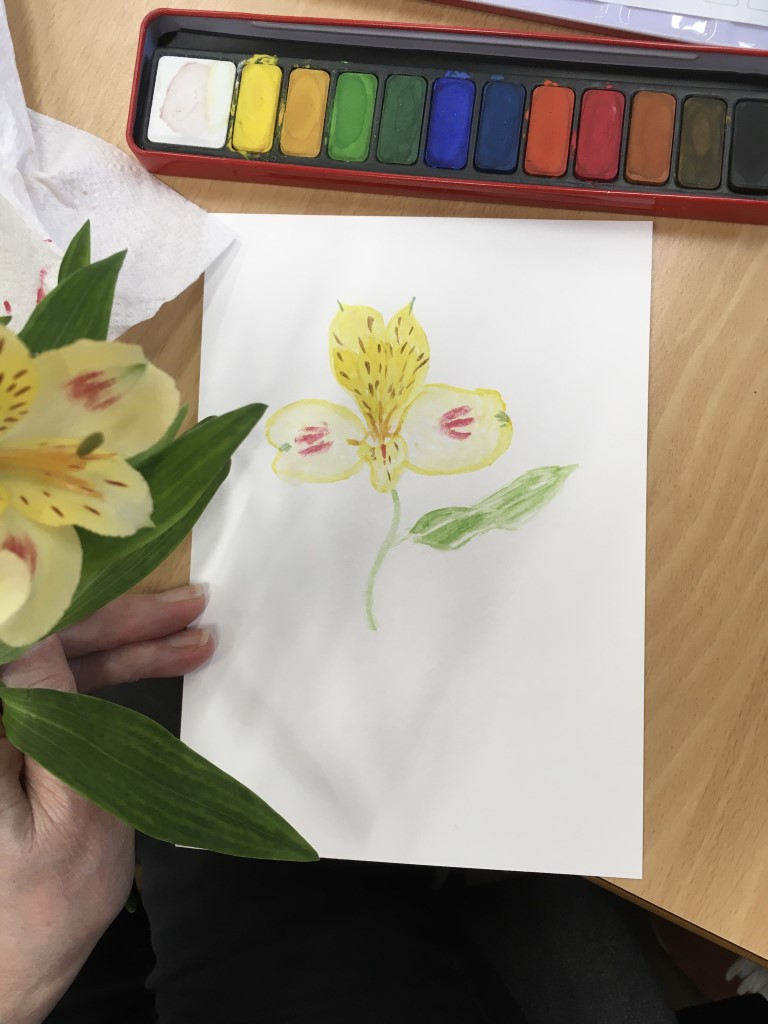 Water colour flower painting