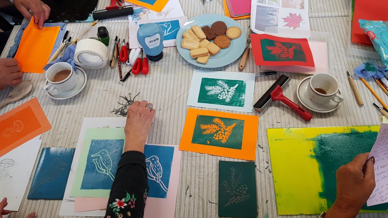 Kinver Create Space Lino Cutting