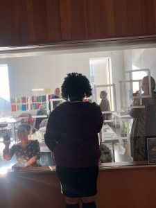 The second cohort of participants did workshops in clay sculpture, wire sculpture, book binding, layered drawing, window drawing and had a tours of current exhibitions.